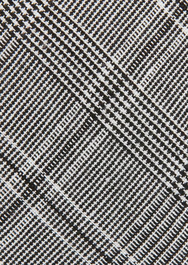 Cravate fine grise à motif fantaisie noir - Father and Sons 26603
