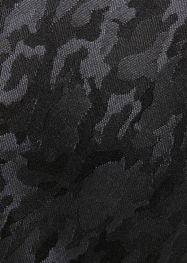 Cravate fine en soie gris foncée à motif fantaisie noir - Father and Sons 26615
