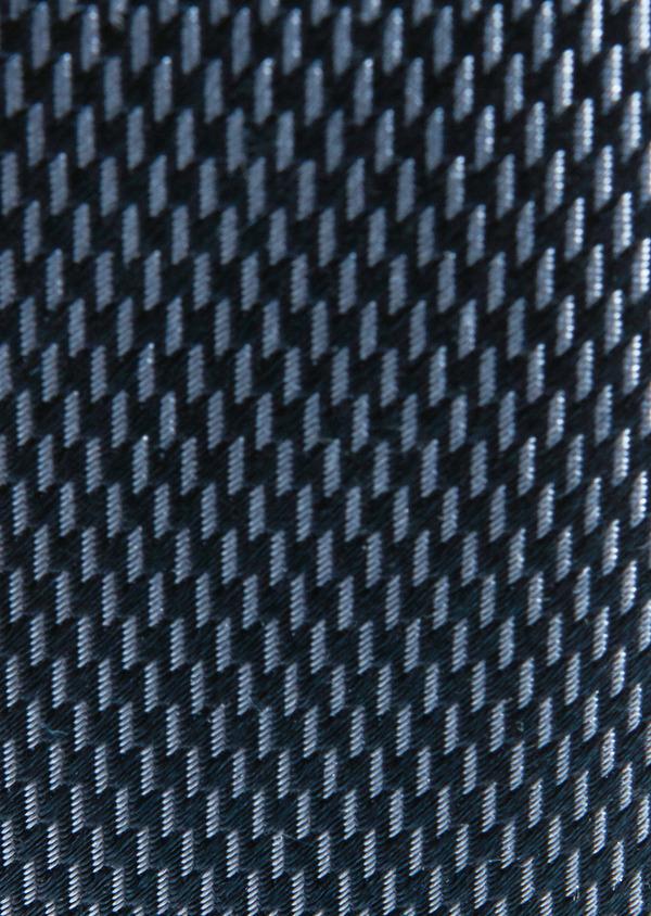 Cravate large en soie indigo à motif fantaisie bleu clair - Father and Sons 26691