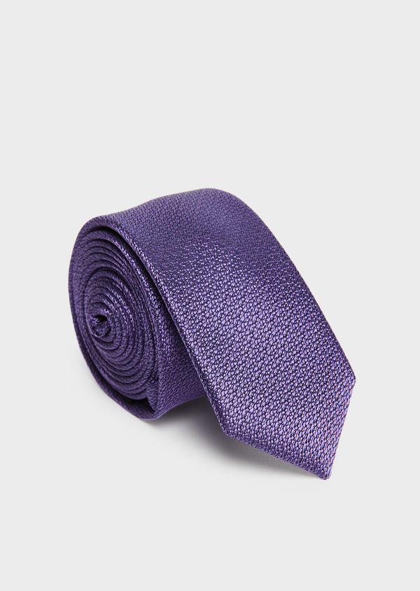 Cravate fine en soie violette - Father and Sons 26718