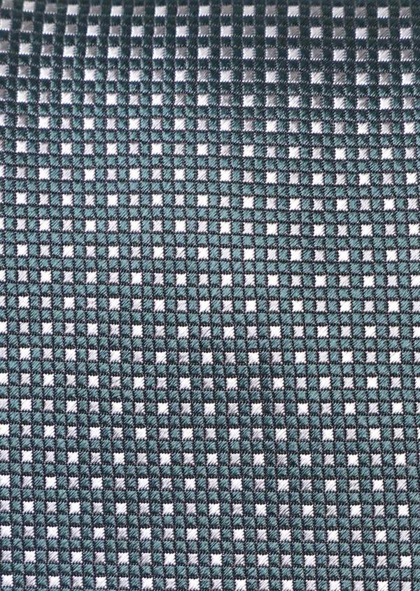 Cravate large en soie à carreaux vert et rose - Father and Sons 35119