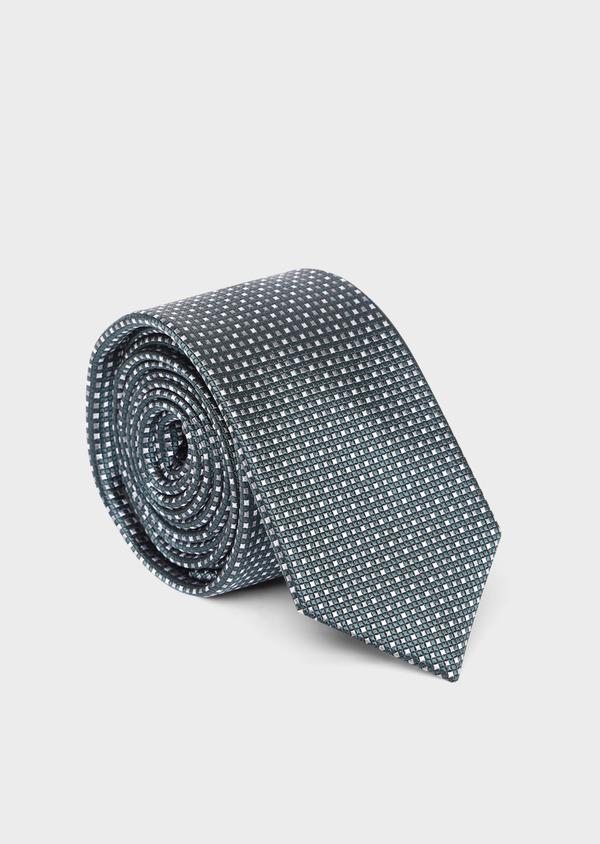 Cravate large en soie à carreaux vert et rose - Father and Sons 35118