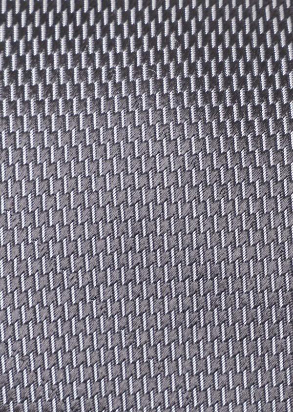 Cravate large en soie à motif fantaisie gris anthracite - Father and Sons 35109