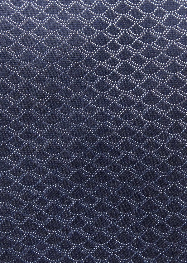 Cravate large en soie à motif fantaisie bleu - Father and Sons 36322