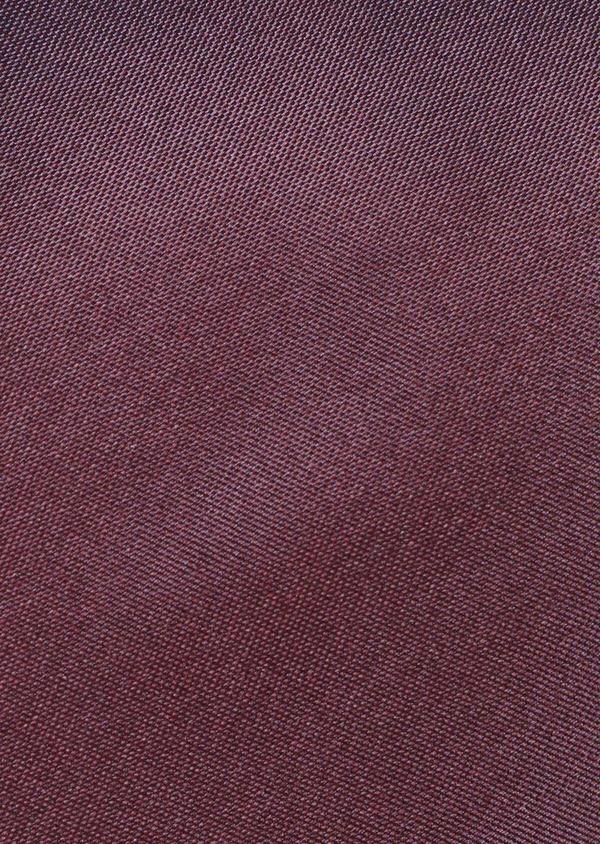 Cravate large en soie unie bordeaux - Father and Sons 35159