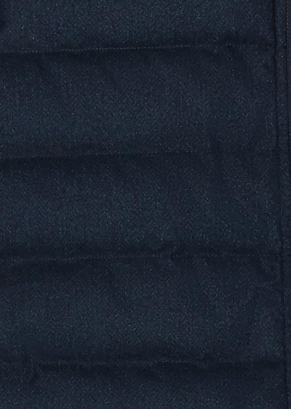 Doudoune light sans manches bleu à motifs chevron - Father and Sons 26734