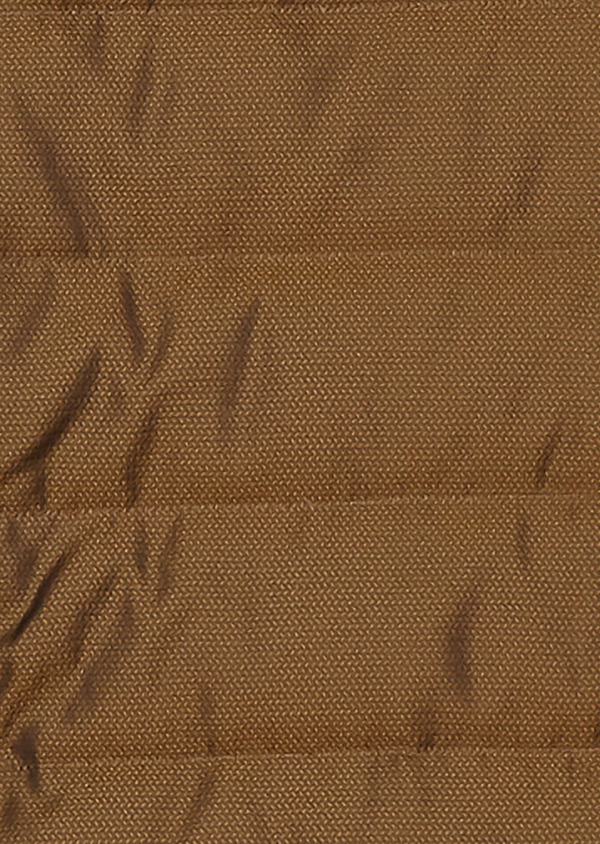 Doudoune light sans manches camel à motifs géométriques - Father and Sons 26726