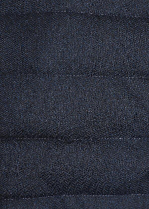 Doudoune light manches longues bi-matière bleu marine unie - Father and Sons 35988