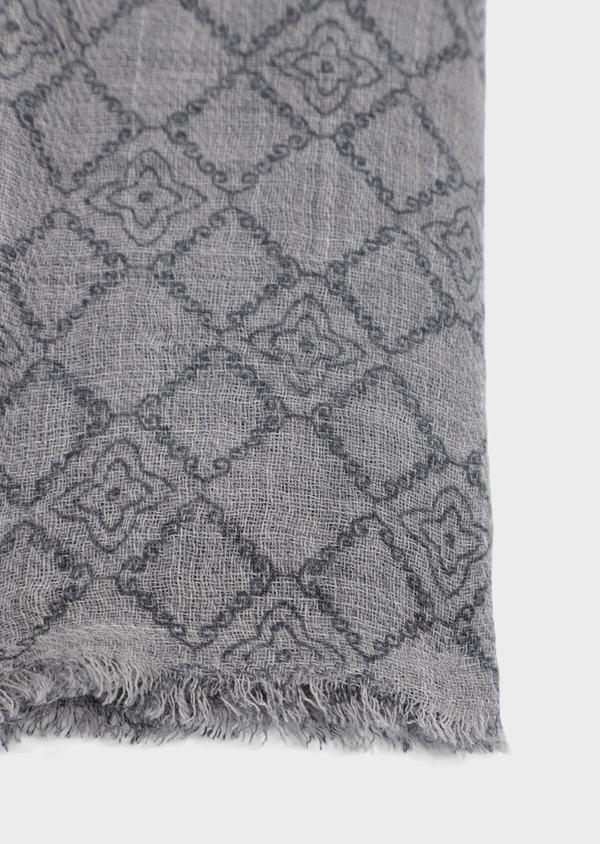 Écharpe en laine grise à motif fantaisie - Father and Sons 35236