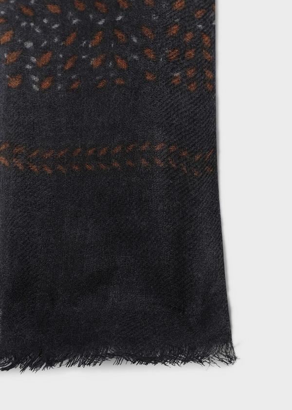 Écharpe en laine grise à motif fantaisie camel - Father and Sons 35261