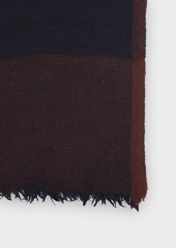 Écharpe en laine bordeaux à carreaux - Father and Sons 35253