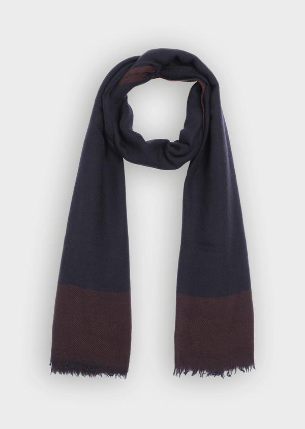 Écharpe en laine bordeaux à carreaux - Father and Sons 35252
