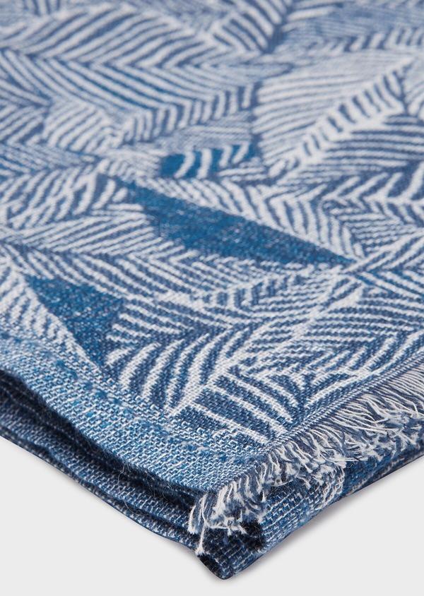 Écharpe en coton mélangé en motif fantaisie bleu et blanc - Father and Sons 33025