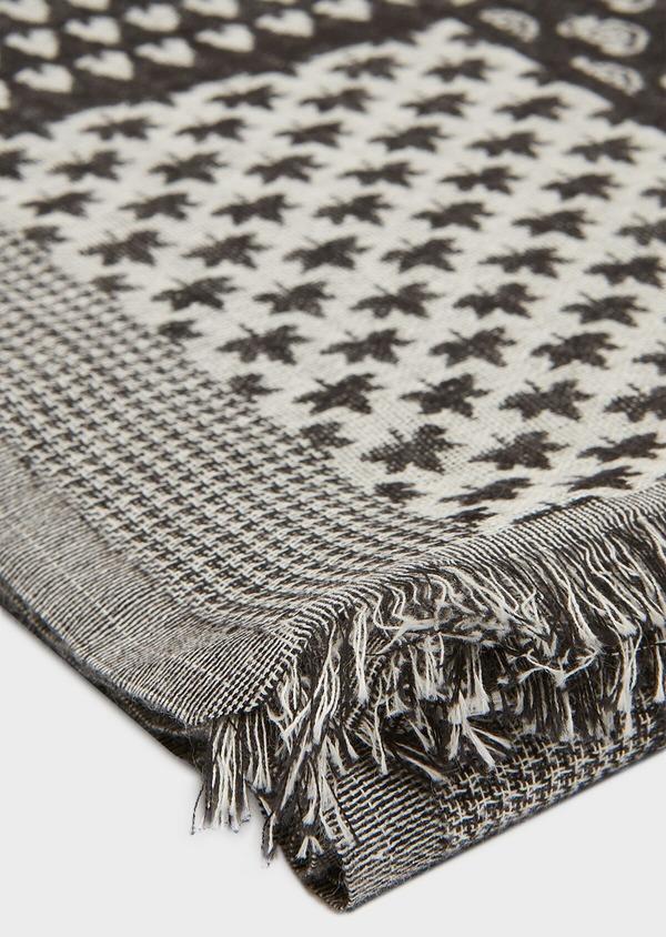Echarpe en coton à motif fantaisie noir - Father and Sons 33049