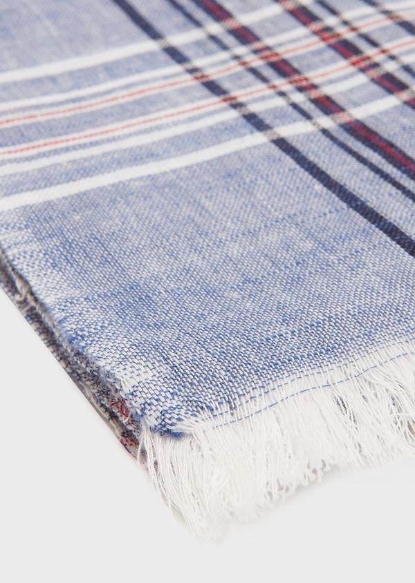Echarpe en coton à motifs géométriques bleus - Father and Sons 33047
