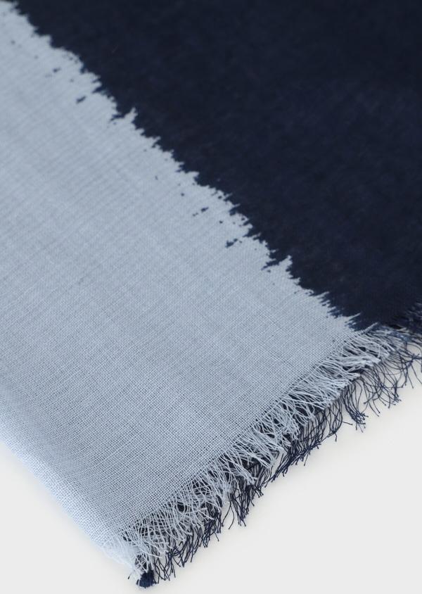 Écharpe en coton mélangé dégradé de bleus - Father and Sons 33037