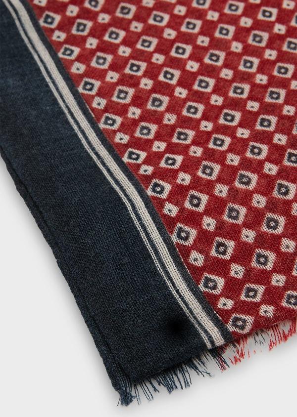 apparence élégante emballage élégant et robuste sélectionner pour dernier Écharpe en laine bleu marine à motifs fantaisie