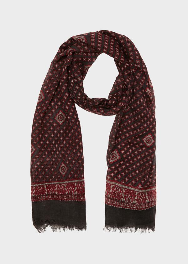sélectionner pour l'original profiter du prix le plus bas meilleure vente Écharpe en laine grise à motifs fantaisie