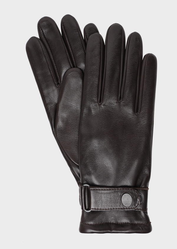 Gants en cuir chocolat - Father and Sons 35763