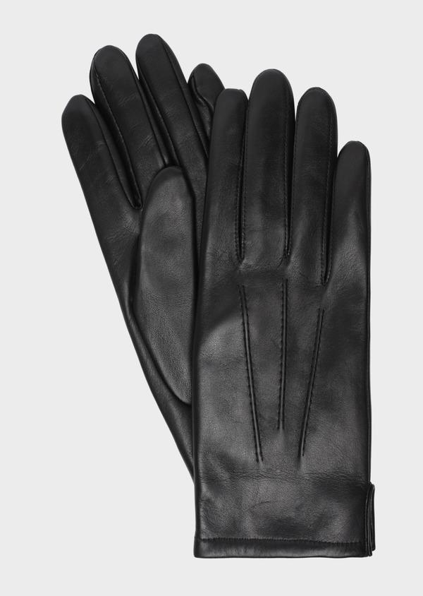 Gants en cuir noir - Father and Sons 35765