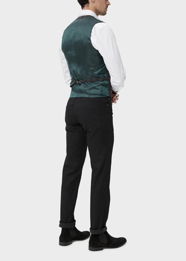 Gilet casual en laine mélangée gris Prince de Galles - Father and Sons 35274