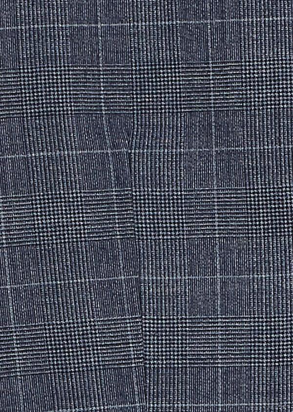 Gilet de costume coordonnable en laine mélangée bleu chambray Prince de Galles - Father and Sons 26787