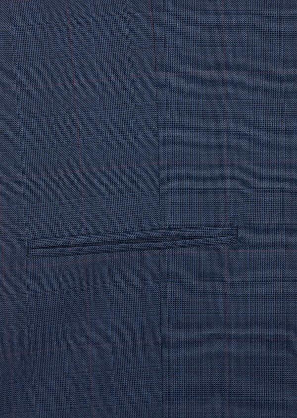 Gilet de costume en laine bleue Prince de Galles - Father and Sons 37075