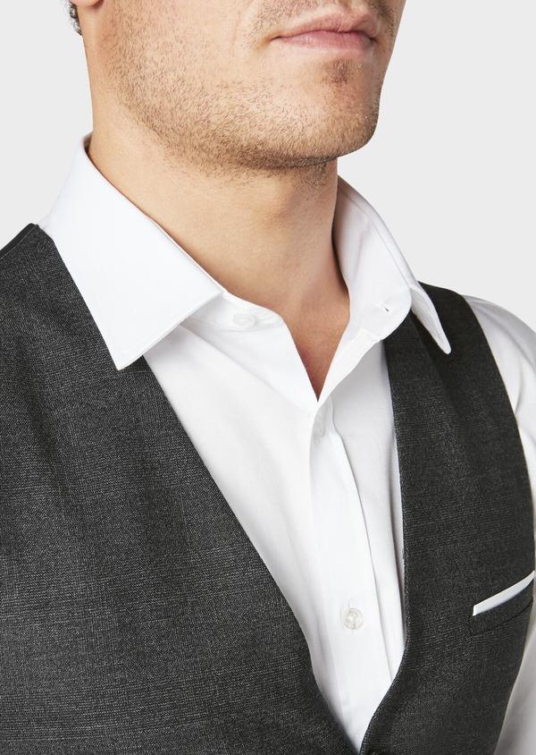 Gilet de costume coordonnable en laine mélangée grise Prince de Galles - Father and Sons 30627