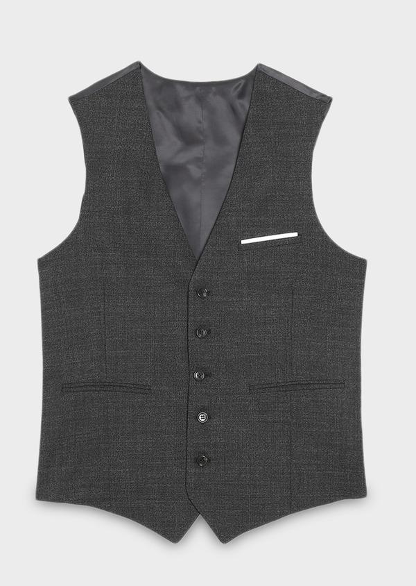 Gilet de costume coordonnable en laine mélangée grise Prince de Galles - Father and Sons 30623
