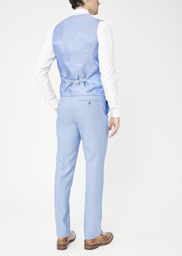 Gilet de costume en laine unie bleue - Father and Sons 39089