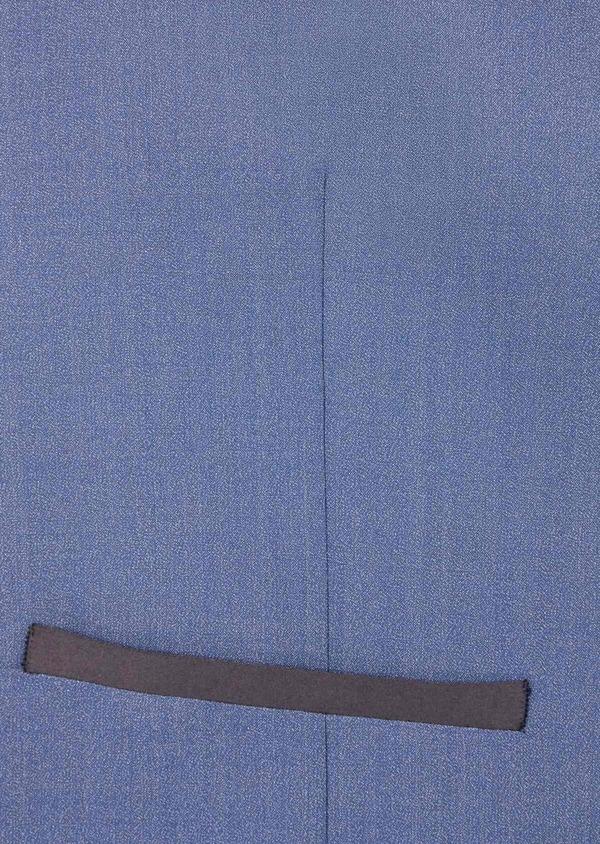 Gilet de smoking en laine et soie uni bleu chambray - Father and Sons 39151