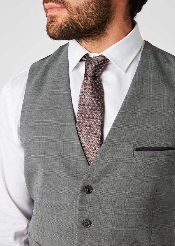 Gilet de costume en laine melangée grise - Father and Sons 20193