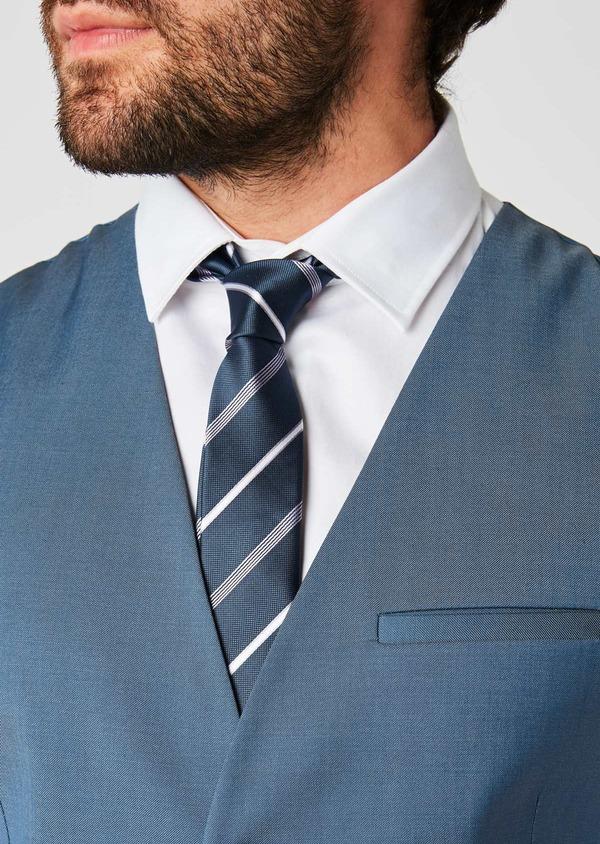 Gilet de costume en laine bleu gris - Father and Sons 20201