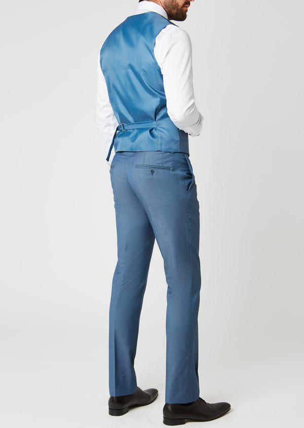 Gilet de costume en laine bleu gris - Father and Sons 20200