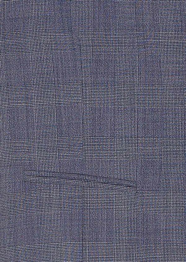 Gilet de costume en laine bleu chambray Prince de Galles - Father and Sons 33116