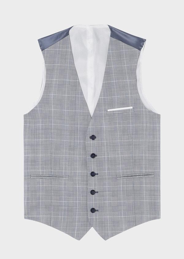 Gilet de costume en laine bleu ciel Prince de Galles - Father and Sons 33075