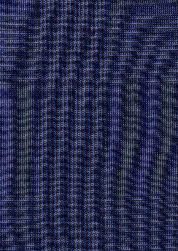 Gilet de costume en laine bleu indigo Prince de Galles - Father and Sons 33121