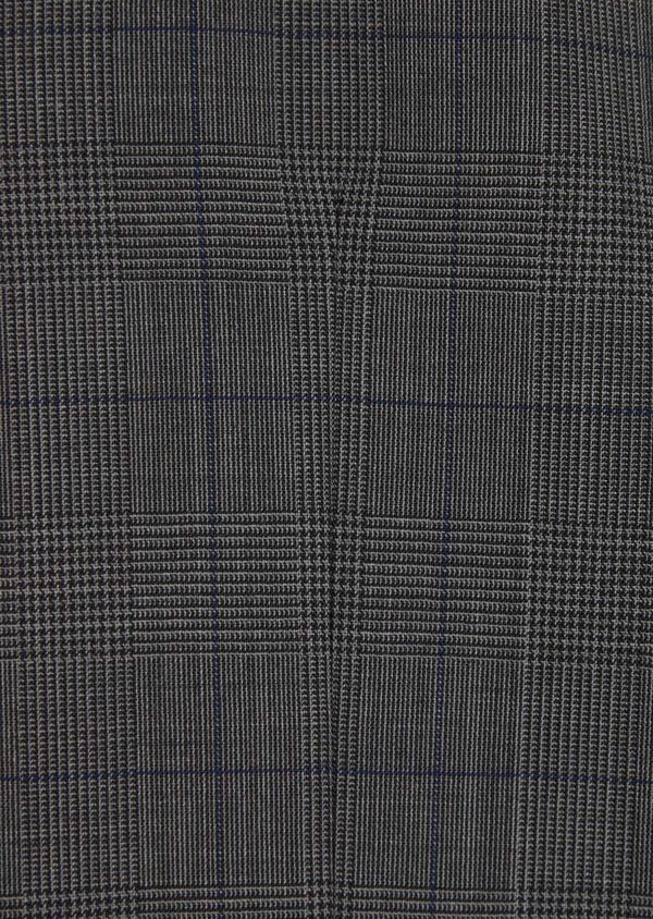 Gilet de costume en laine stretch naturelle marron Prince de Galles - Father and Sons 35807