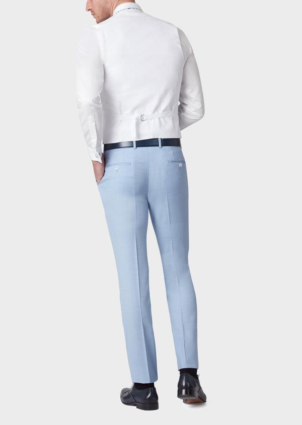 Gilet de costume en coton à motif fleuri bleu - Father and Sons 33841