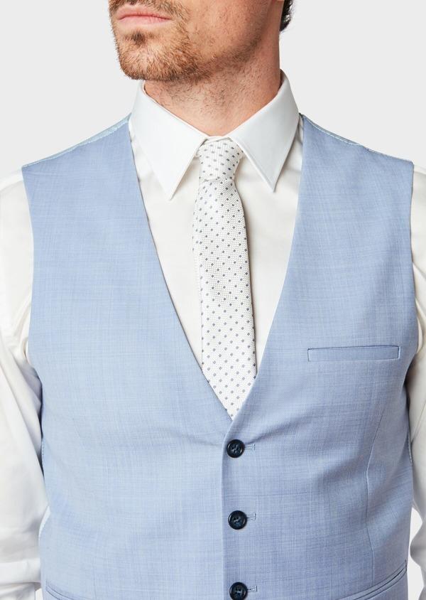Gilet de costume en laine unie bleu ciel - Father and Sons 33084