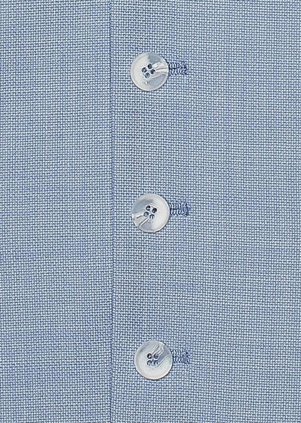 Gilet de costume en laine unie bleu clair - Father and Sons 33834