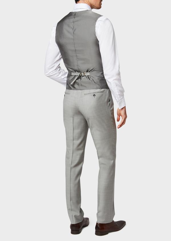 Gilet de costume en laine unie grise - Father and Sons 33103