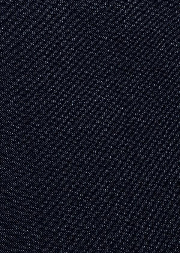 Gilet de costume voyage en laine unie bleu marine - Father and Sons 31774
