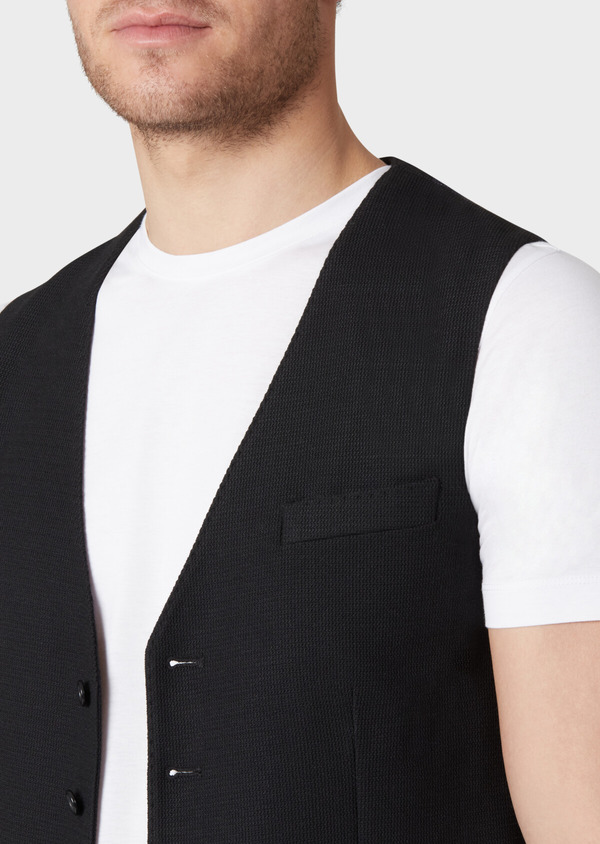 Gilet casual Edition Limitée Ardif uni noir - Father and Sons 33822