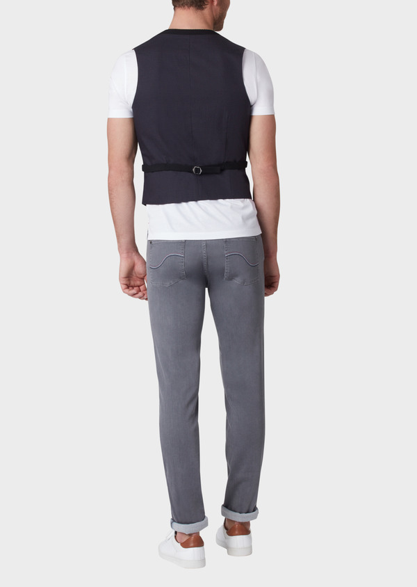 Gilet casual Edition Limitée Ardif uni noir - Father and Sons 33821