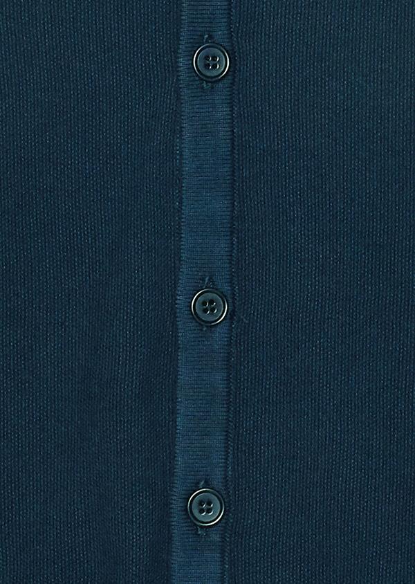 Cardigan boutonné en coton uni bleu marine - Father and Sons 34543