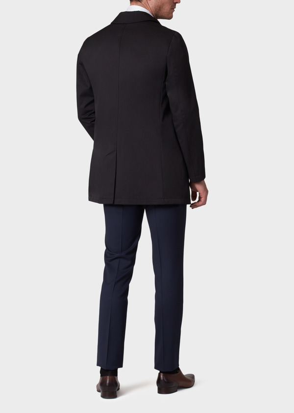 Trench droit uni noir - Father and Sons 33875