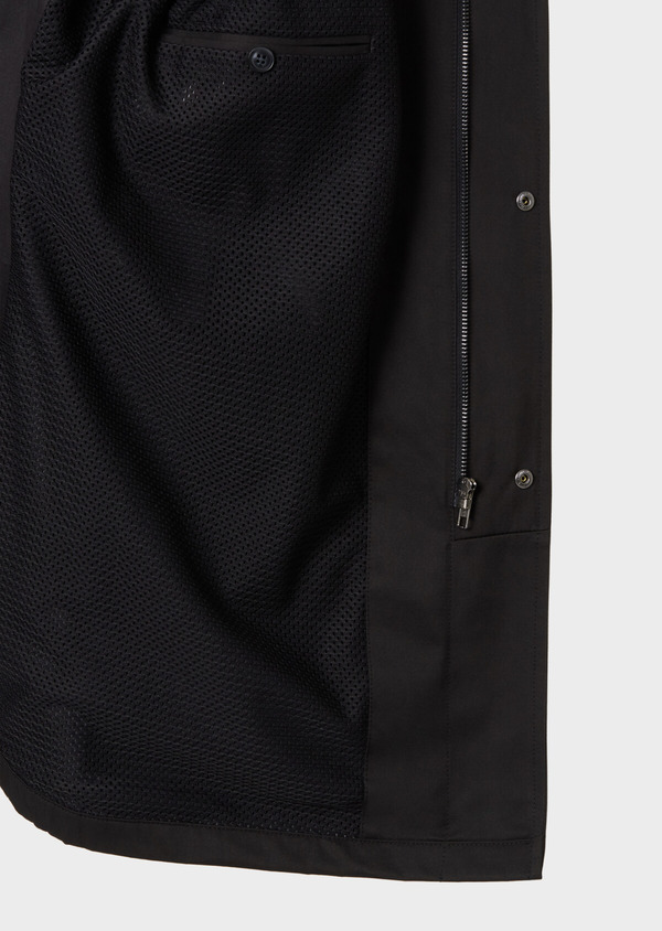 Trench droit uni noir - Father and Sons 33877