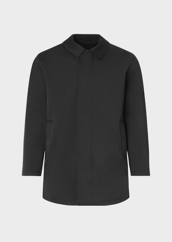 Trench droit uni noir - Father and Sons 33872