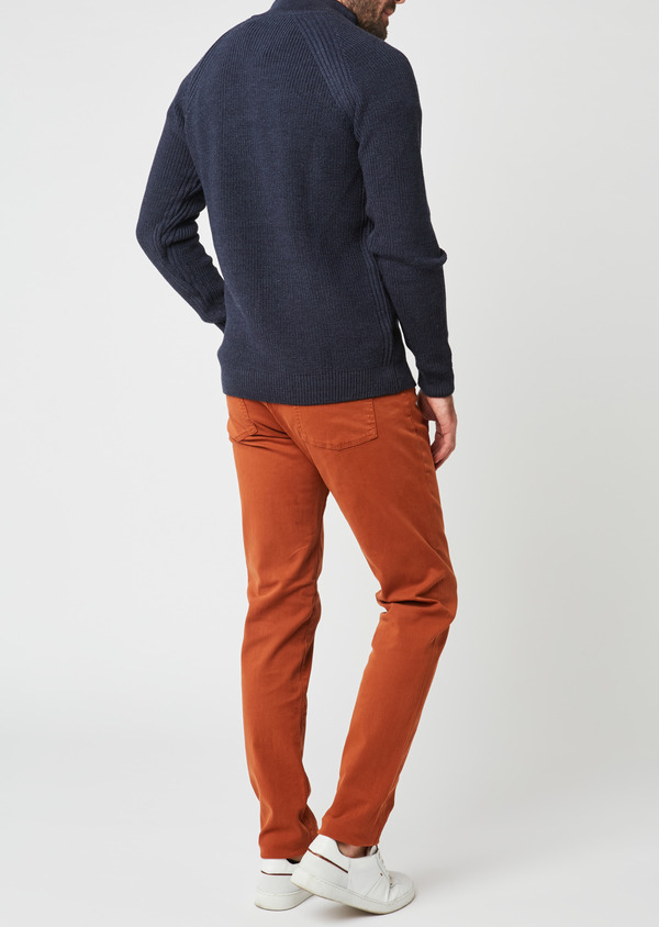 Jean skinny en coton marron uni - Father and Sons 27840